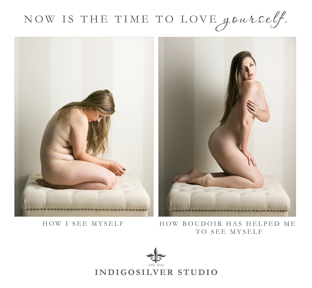 a boudoir before and after of the author