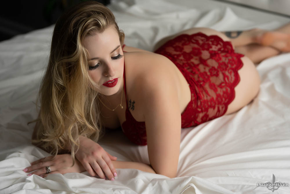 classy boudoir photo